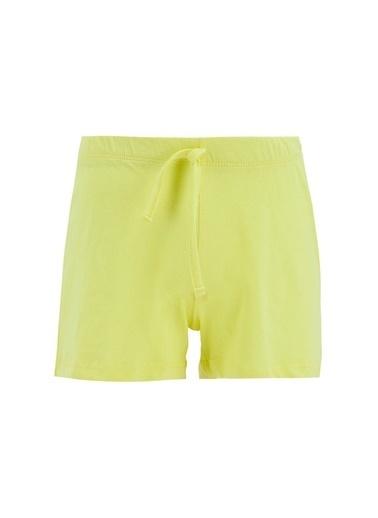 DeFacto Kız Çocuk Kral Şakir Lisanslı Kısa Kol Pijama Takımı Sarı